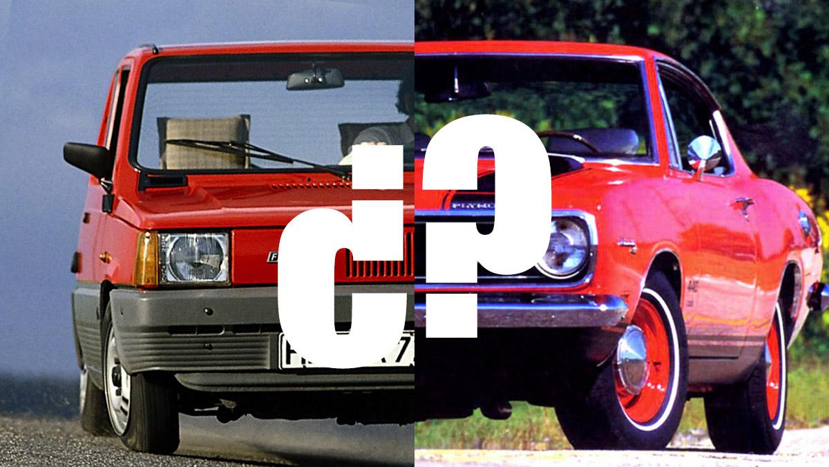 ¿Qué tienen en común el Plymouth Barracuda y el Fiat Panda?