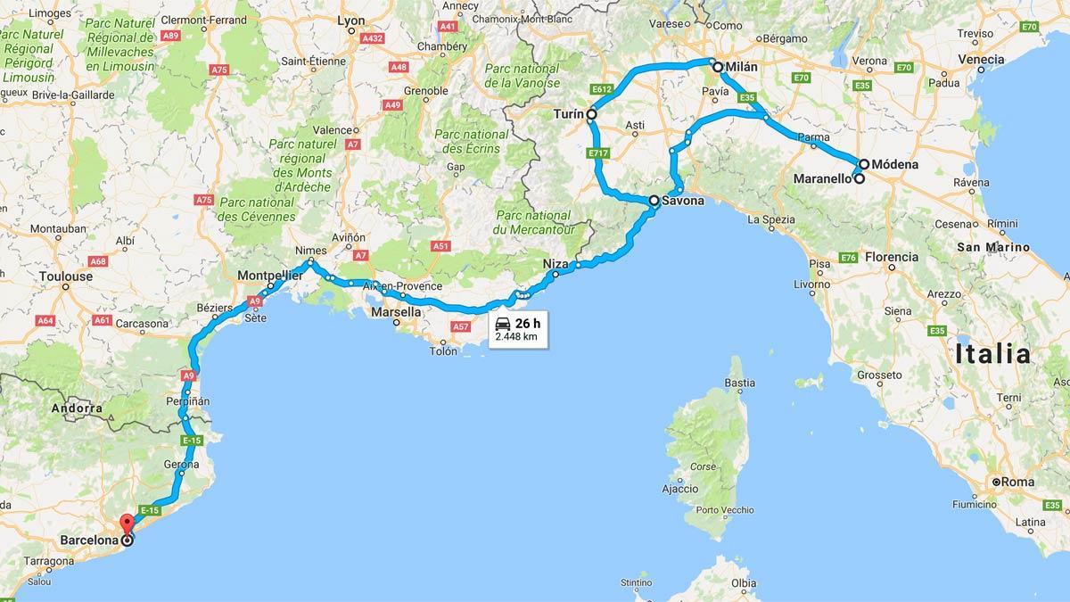 Roadtrip por Italia viaje motor