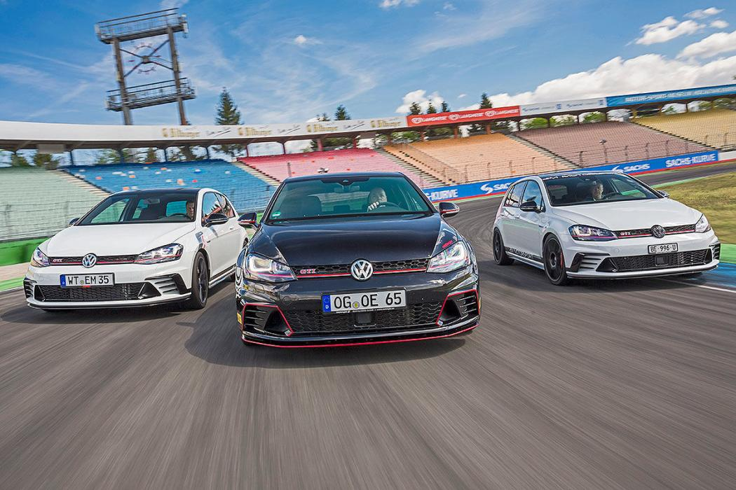 Tres VW Golf Clubsport S tuneados