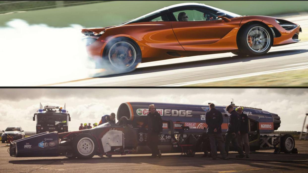 Bloodhound SSC vs McLaren 720S