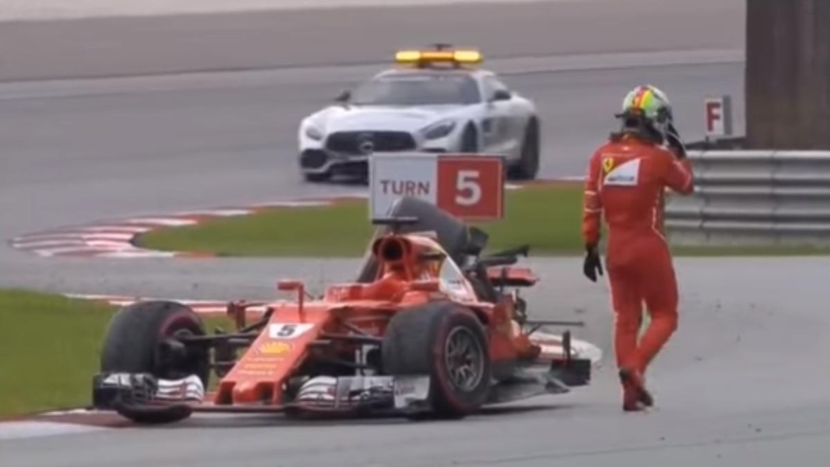La piña de Vettel Y Stroll en Malasia F1 2017