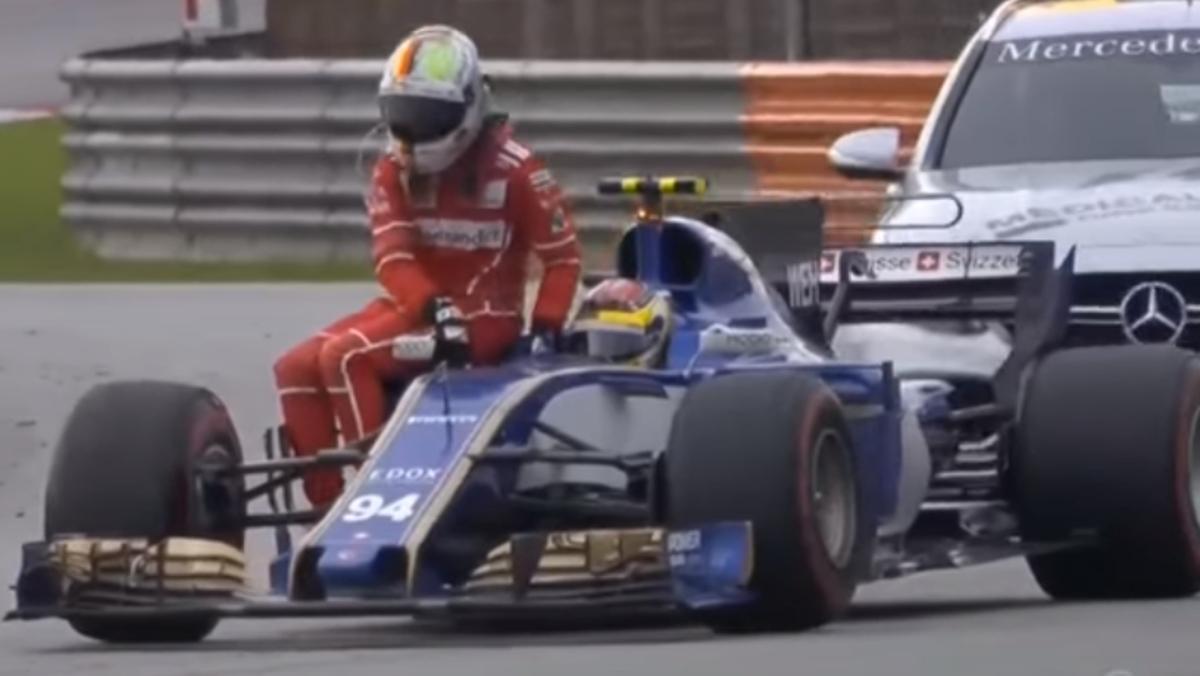 Vettel en el Sauber de Werhlein
