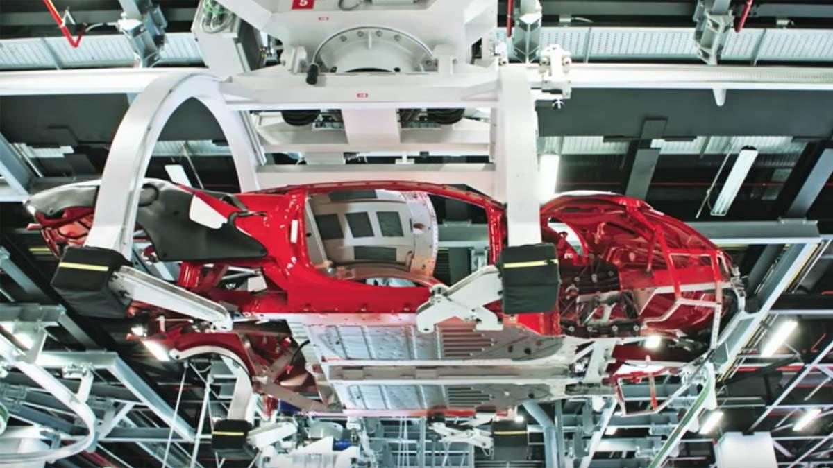 Fábricación del Ferrari 488 GTB fabrica maranello