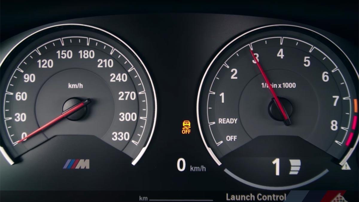 Launch Control BMW M4 aceleración drag pasos