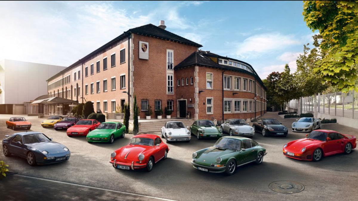 Porsche clásicos deportivos alarma lujo seguridad