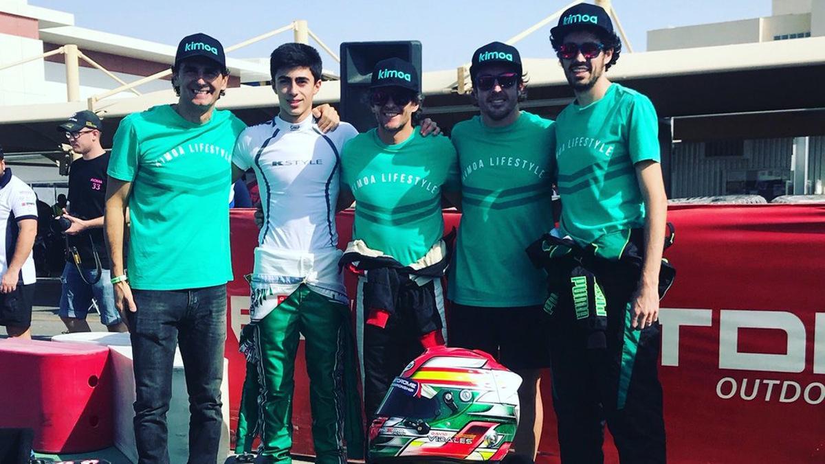 Alonso y De la Rosa en Dubái Karting
