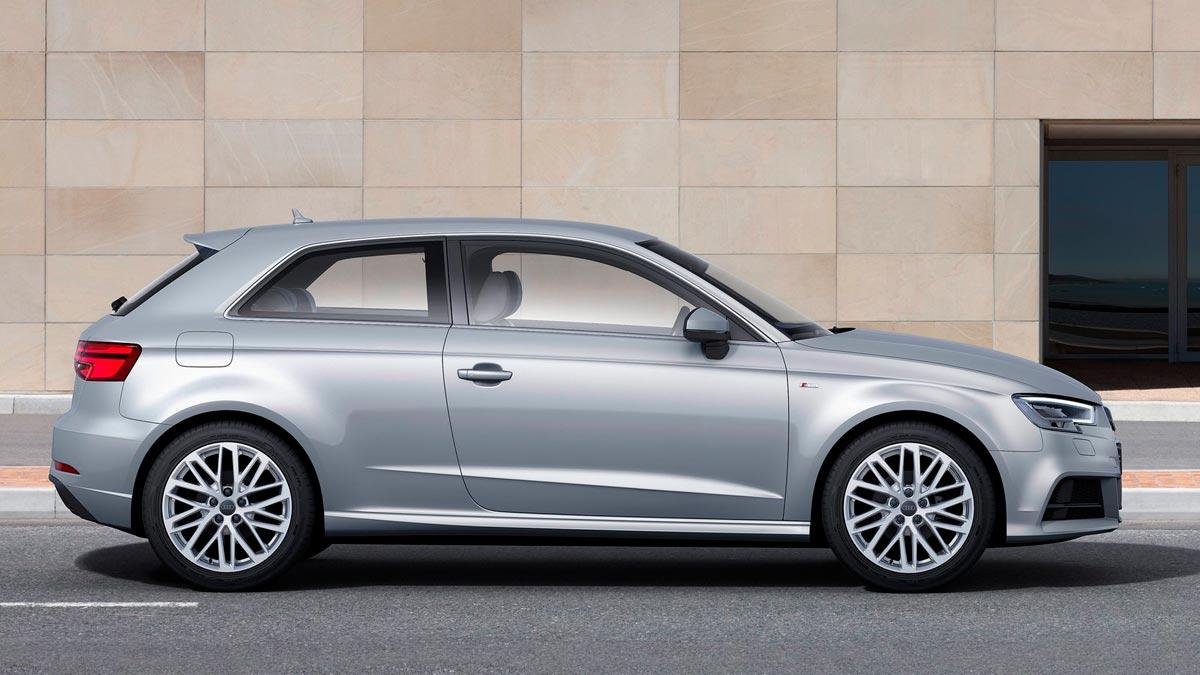 Audi A3 compactos tres puertas lujo premium lateral
