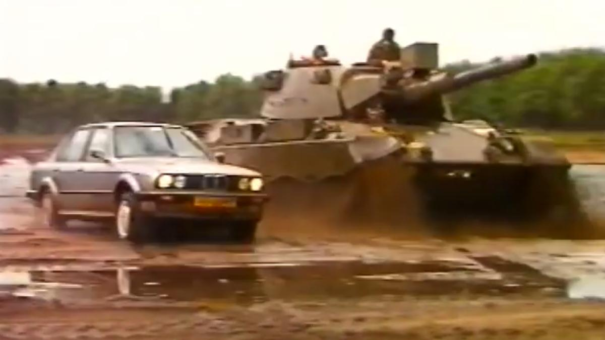 Batalla BMW 325 vs Tanque Leopard