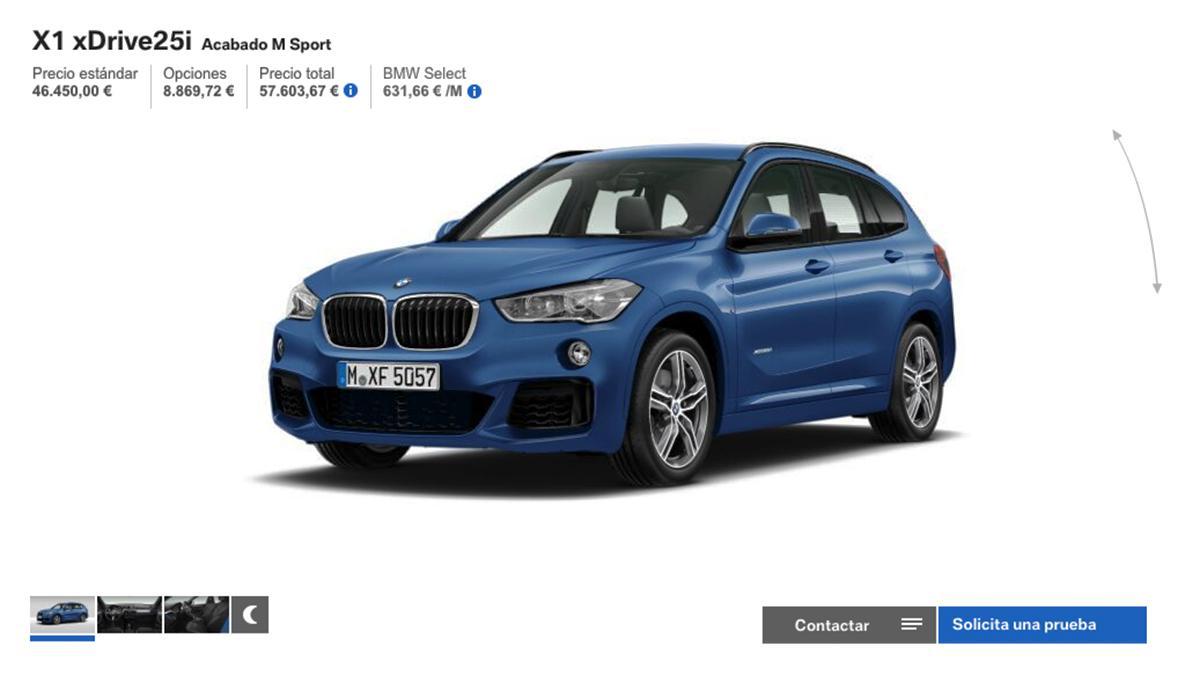 Configurador del BMW X1
