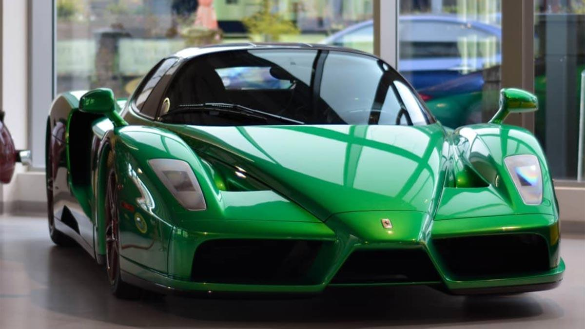 Ferrari Enzo verde one-off emerald green superdeportivo unico exclusivo