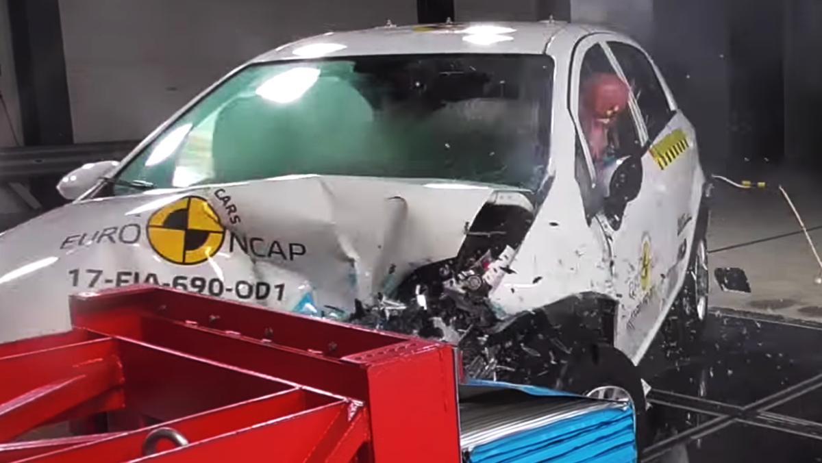 El Fiat Punto ha conseguido 0 estrellas EuroNCAP