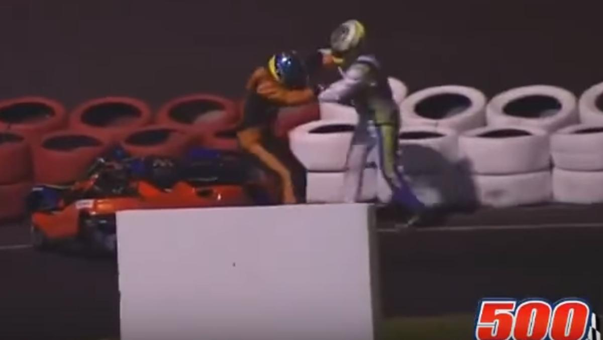 Mamporros en las 500 Millas de Karting en Brasil