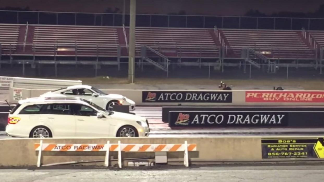 Mercedes E63 AMG drag race