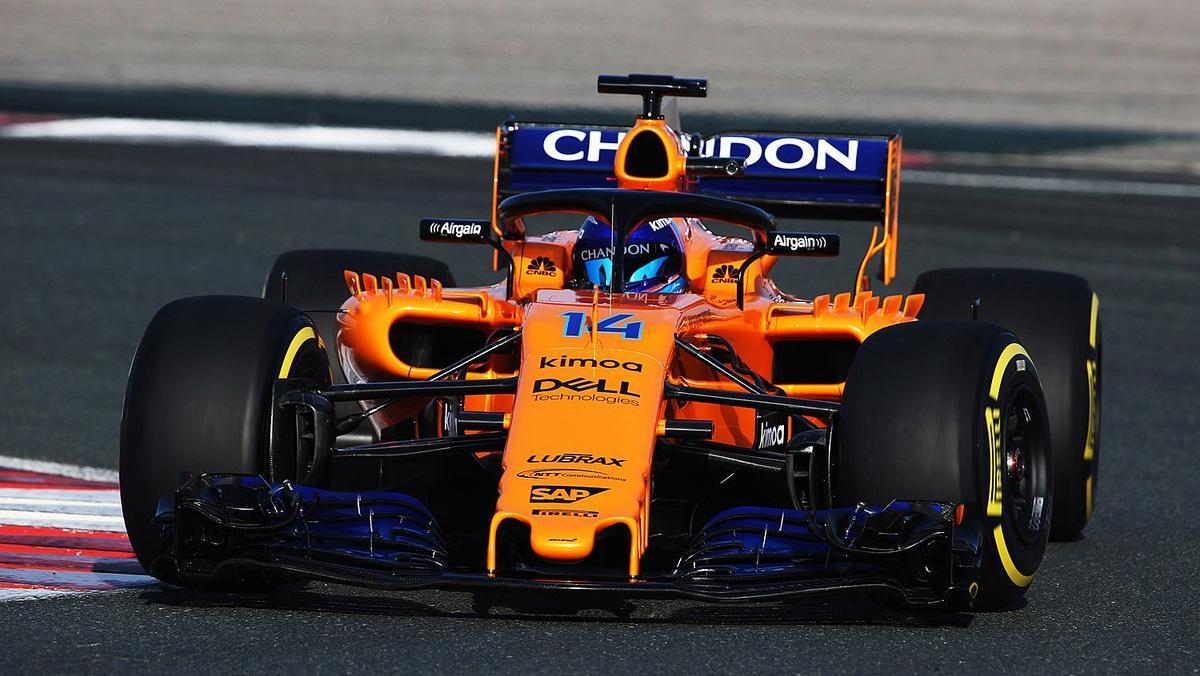 Alonso en pista con MCL33 F1 2018