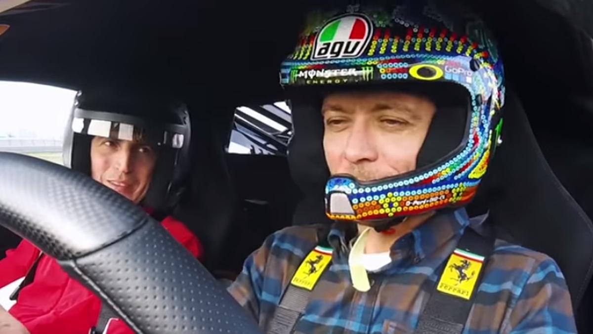 Rossi, dándolo todo con el 488