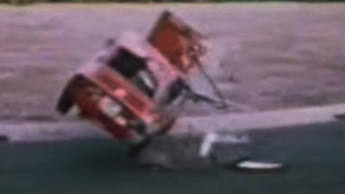 Accidente en Nürburgring en los años 70
