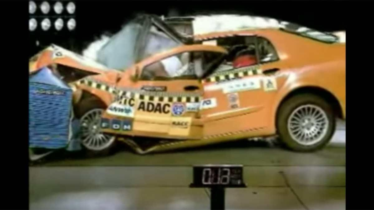 accidente choque adac euroncap video