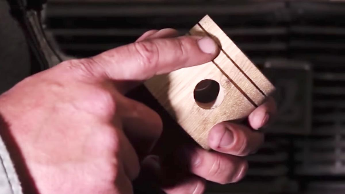Un pistón de madera