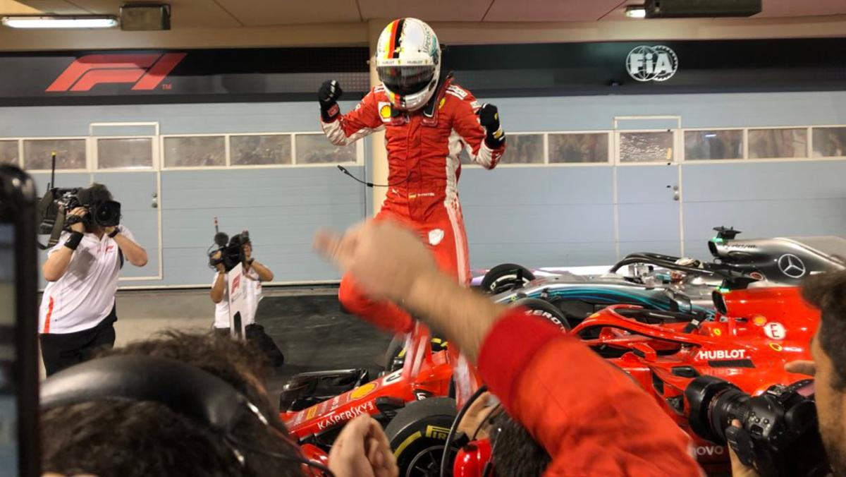 Vettel en Baréin F1 2018