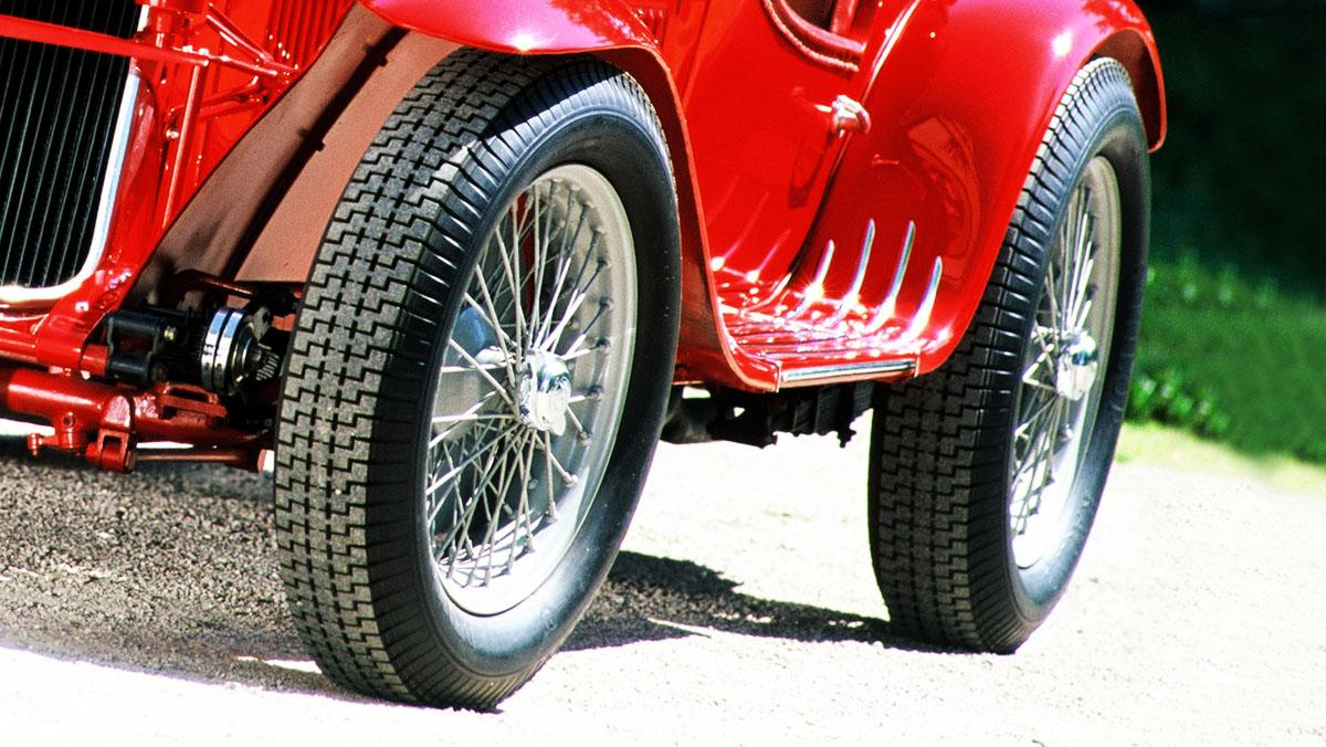 Las llantas del Alfa Romeo 8C Spider Corsa