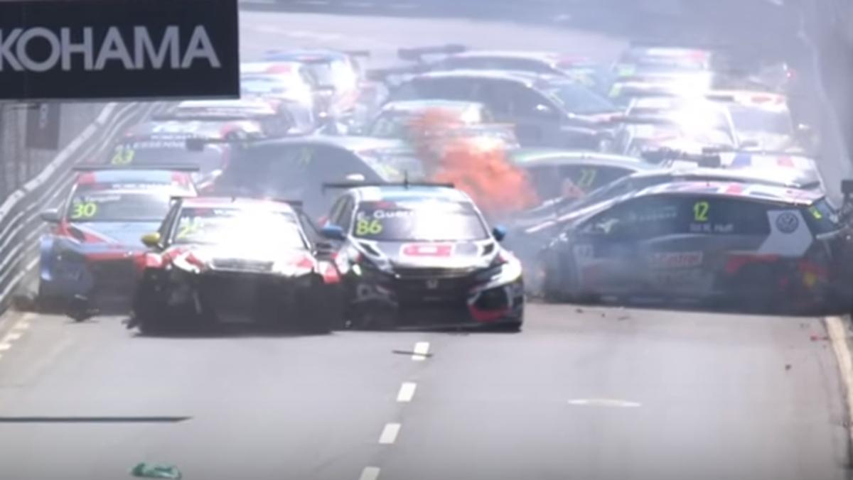 Así fue el accidente múltiple Vila Real WTCR