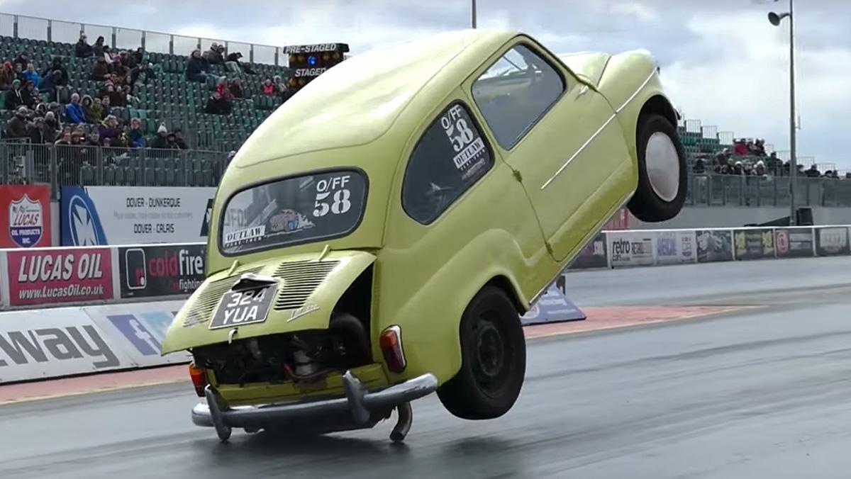 Un brutal 600 en una 'drag race'