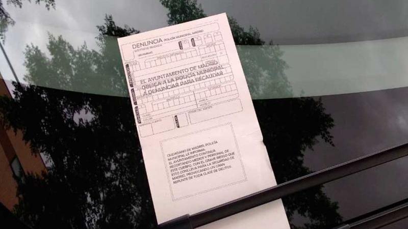 Policía Madrid pone multas falsas