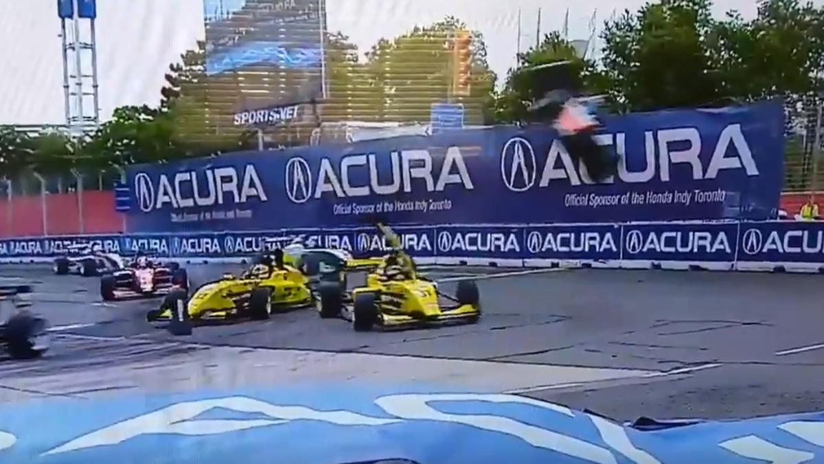 Accidente Pro Mazda IndyCar Toronto