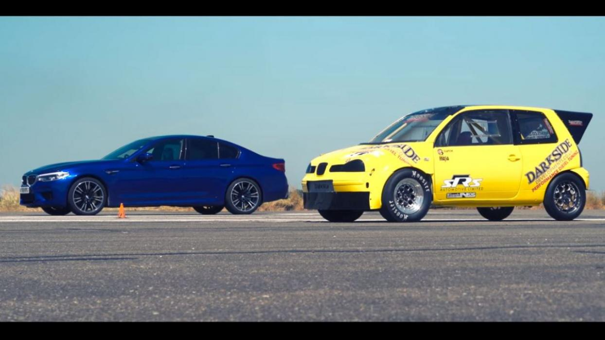 BMW M5 vs Seat Arosa diésel