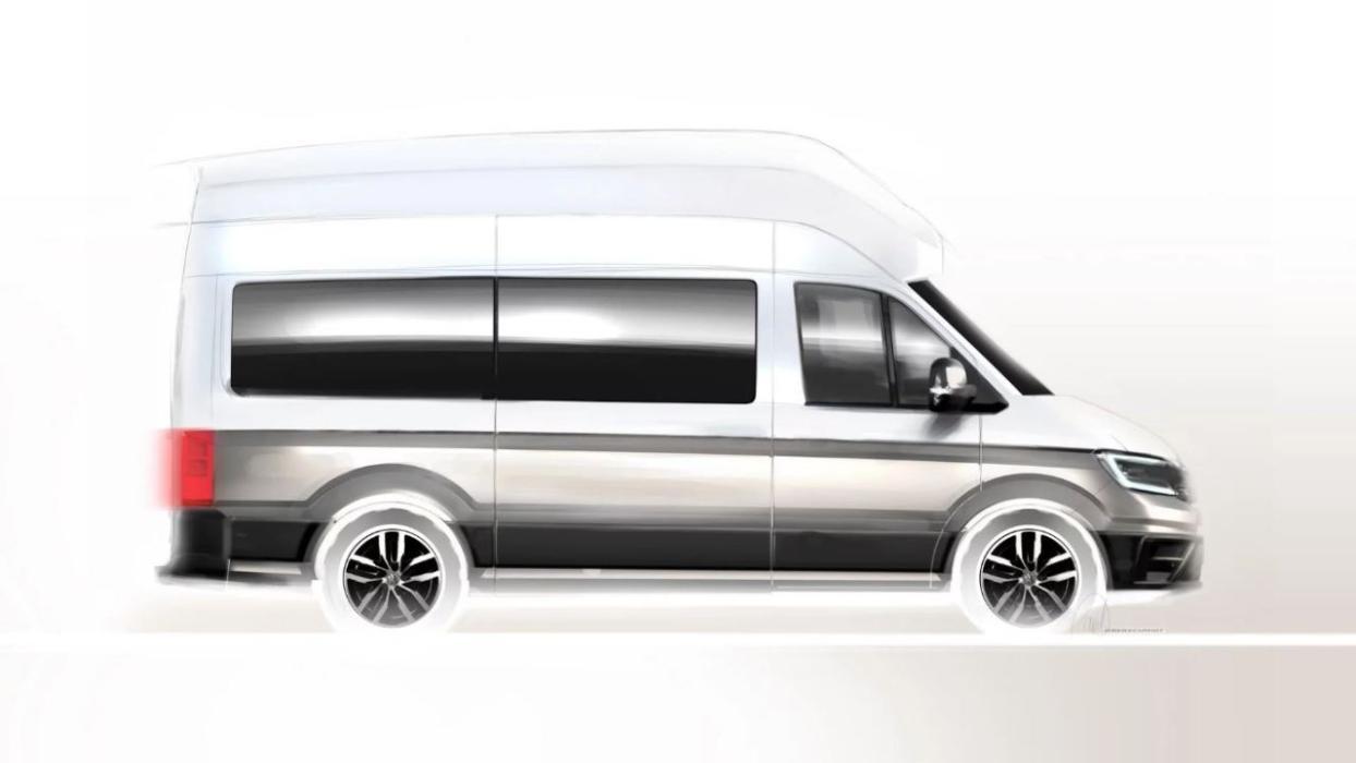 Boceto Volkswagen Crafter Camper