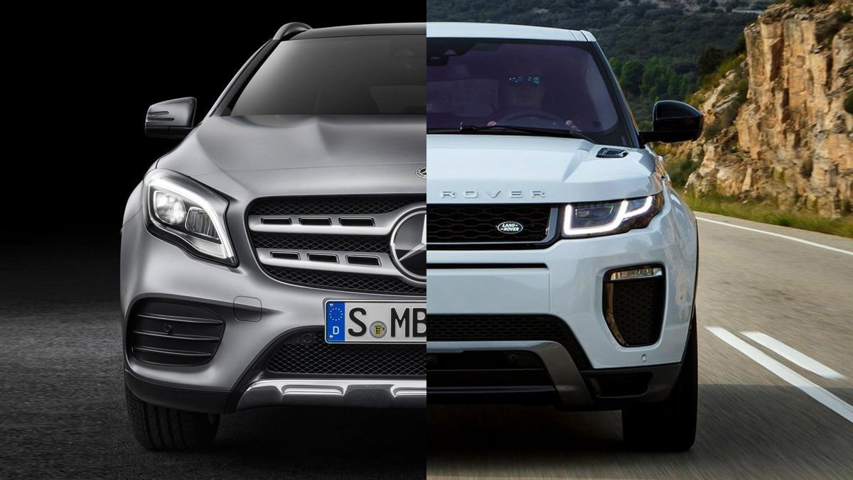 ¿Mercedes GLA o Range Rover Evoque?