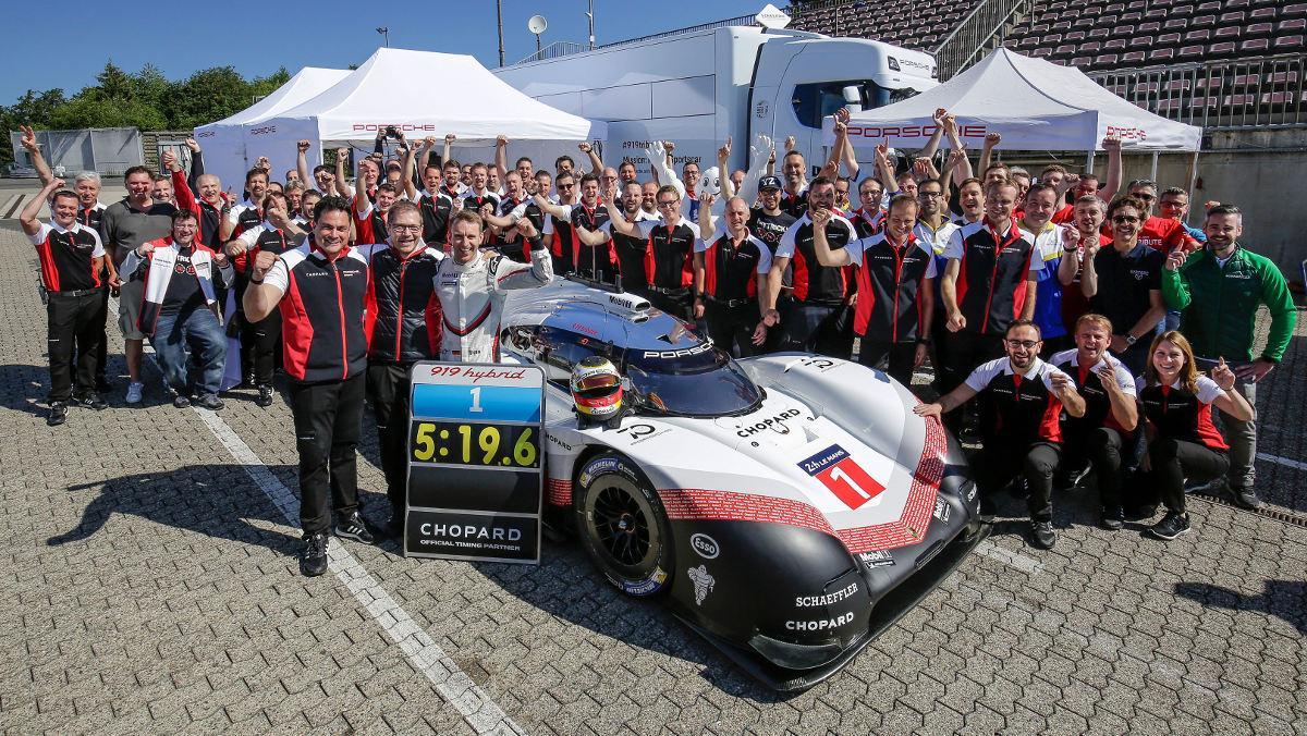 Récord Porsche 919 Hybrid Evo en Nürburgring