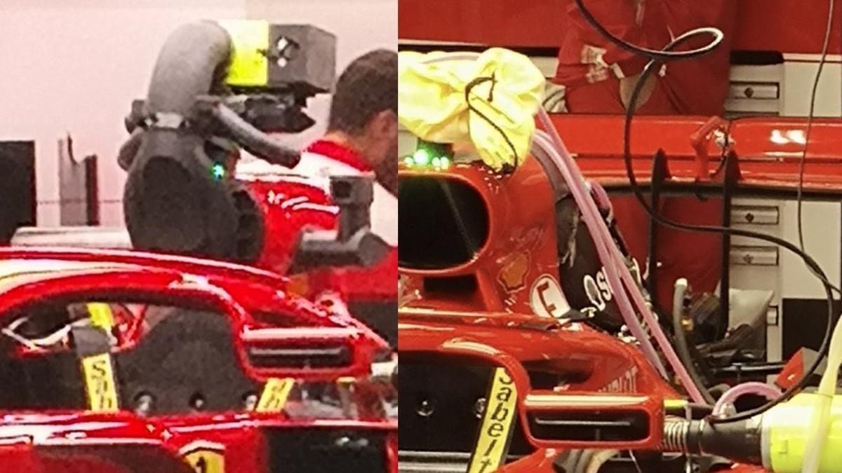 Ferrari tapa sus cámaras, ahora con un air box