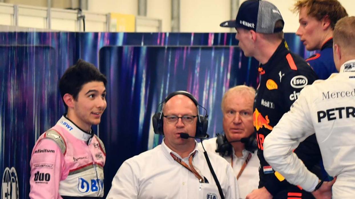 Max Verstappen y Esteban Ocon