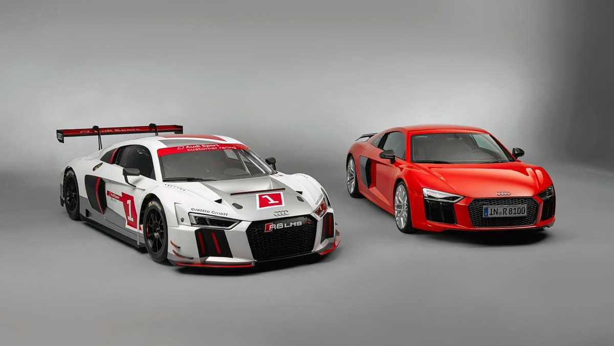 Audi R8 serie/carreras