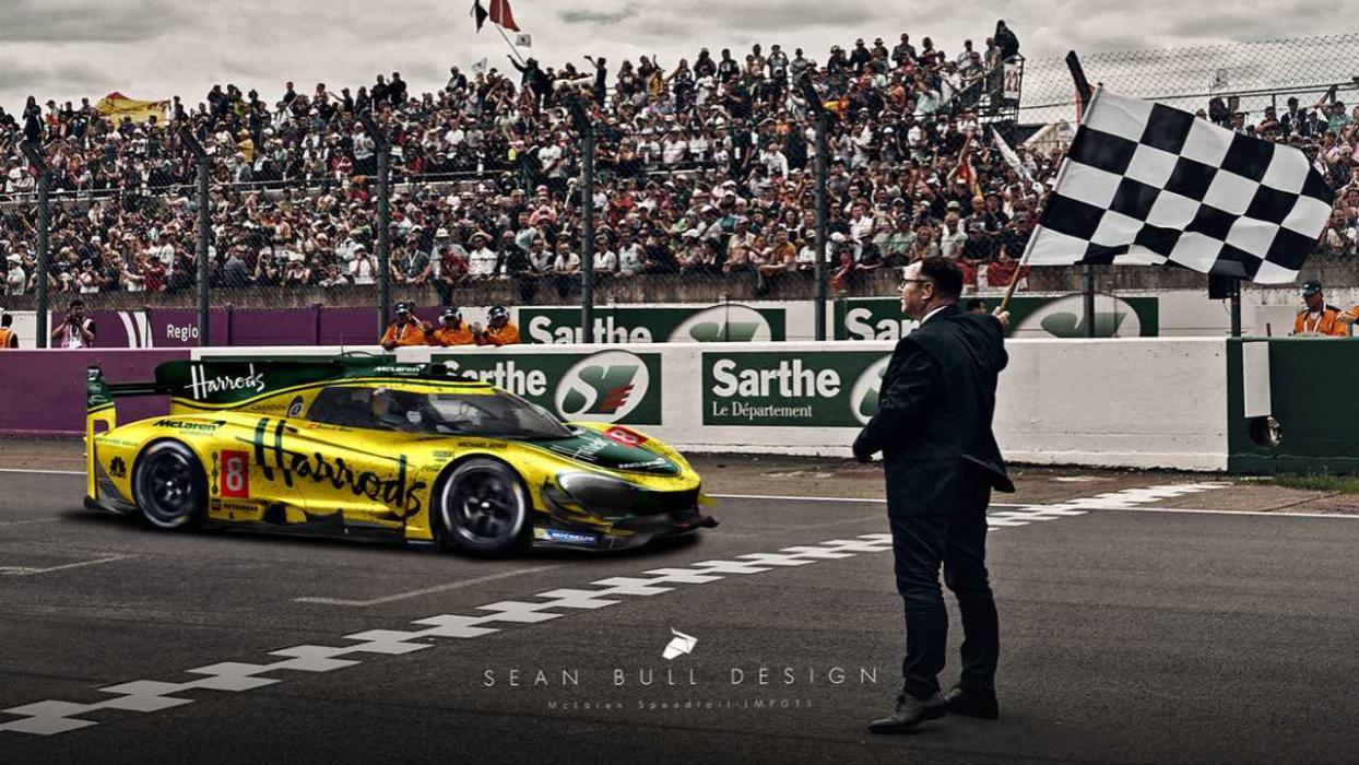 Boceto McLaren Le Mans 2021