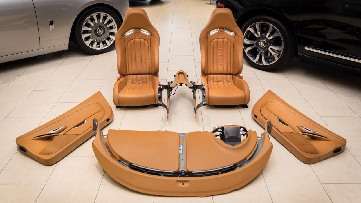 El interior de este Bugatti Veyron cuesta más de 130.000 euros