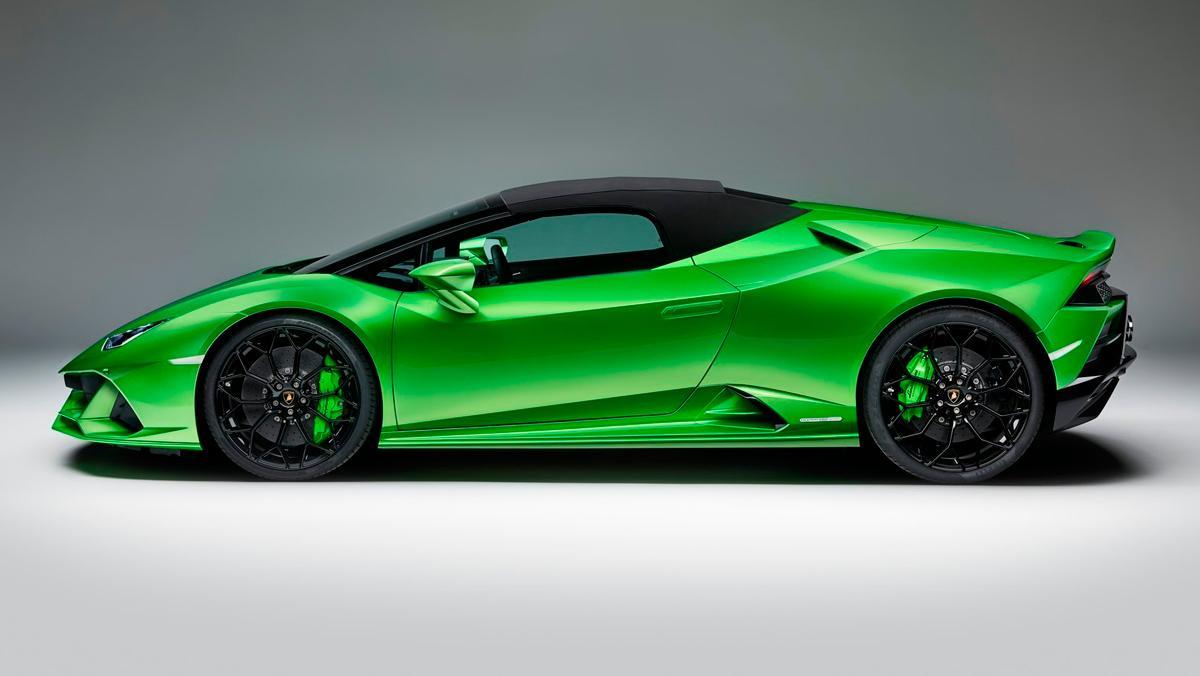Lamborghini Huracán Evo Spyder (lateral capotado)
