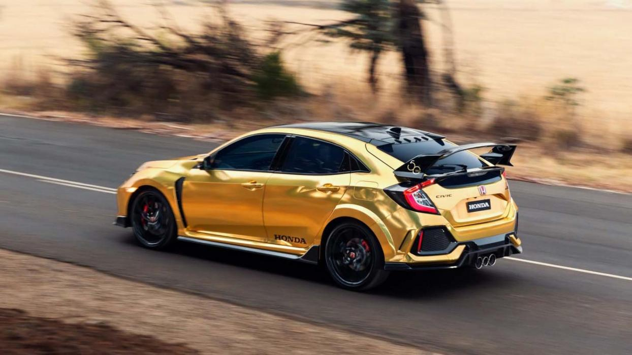 Honda Civic Type R dorado (2)