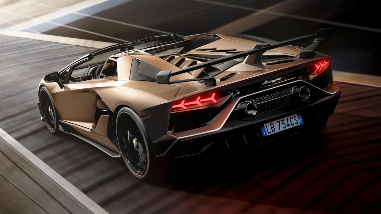 Lamborghini Aventador SVJ Roadster (trasera)