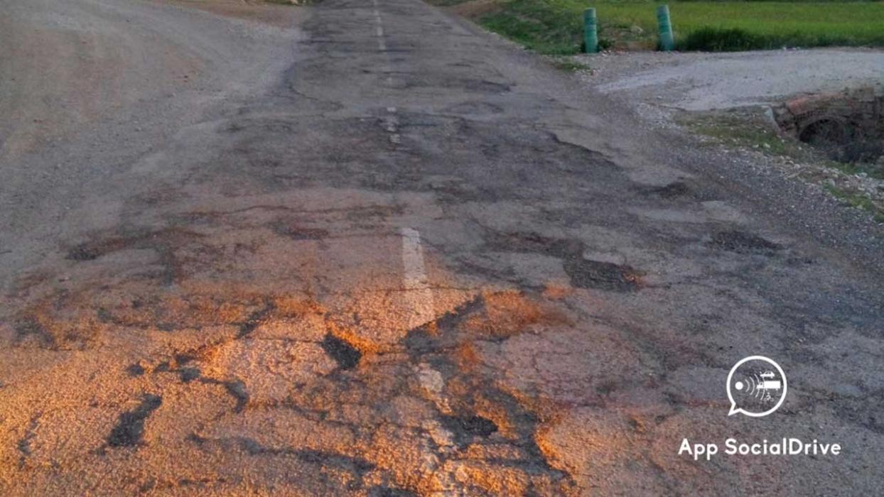 Carreteras en mal estado. CM-4167 Toledo