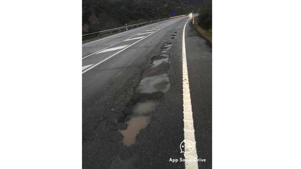 Carreteras en mal estado. N-120