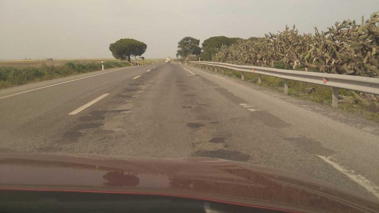 Carreteras en mal estado. N-IV