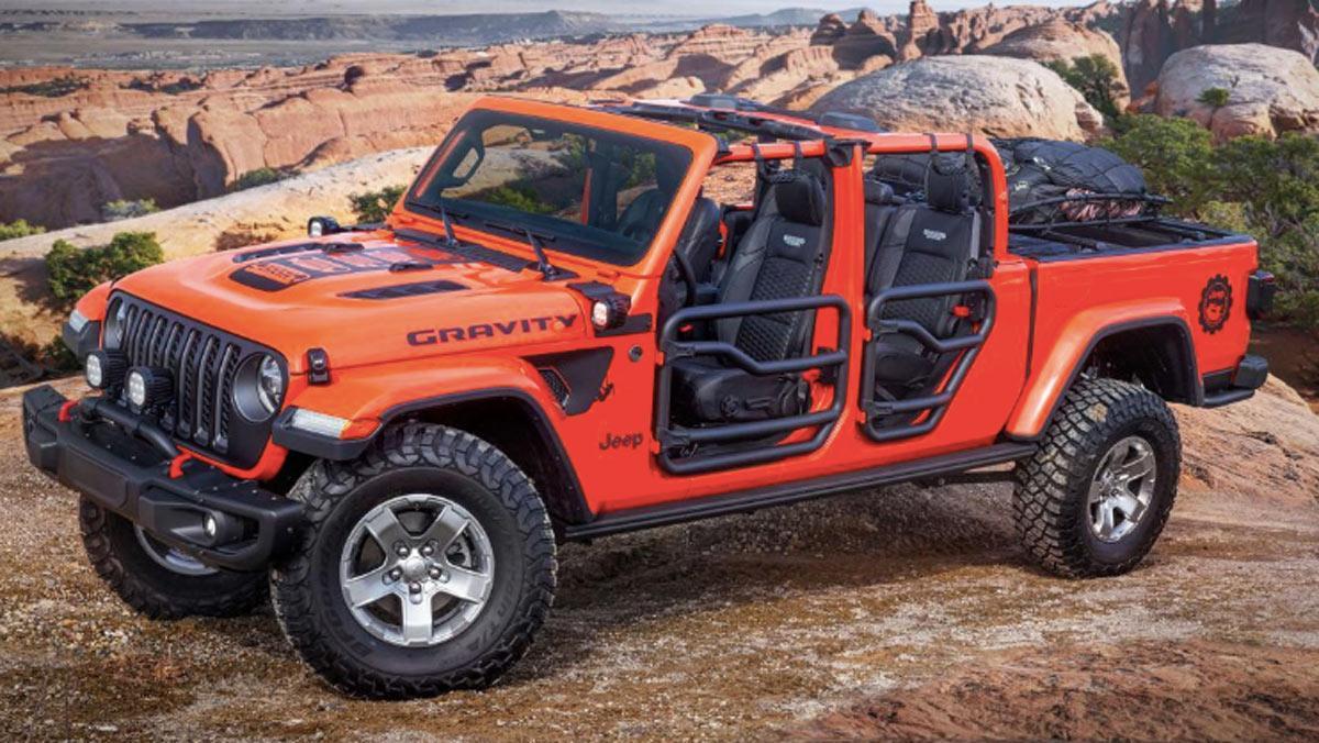 Concept Jeep Gravity, tres cuartos delantero