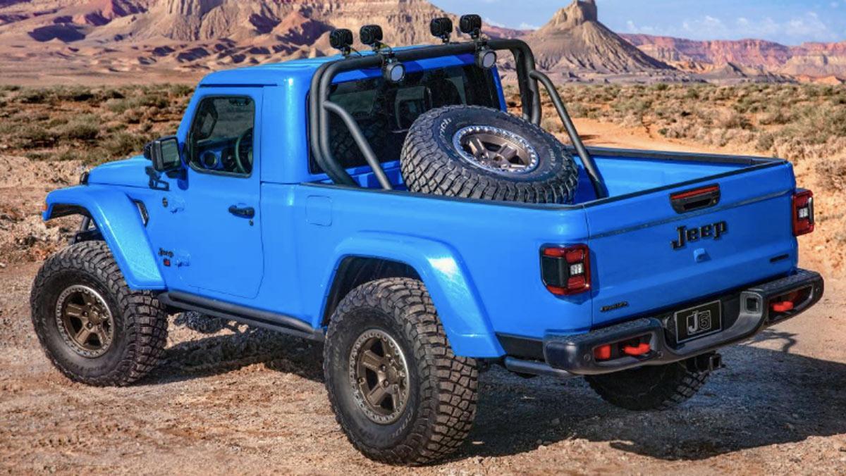 Concept Jeep J6, tres cuartos trasero