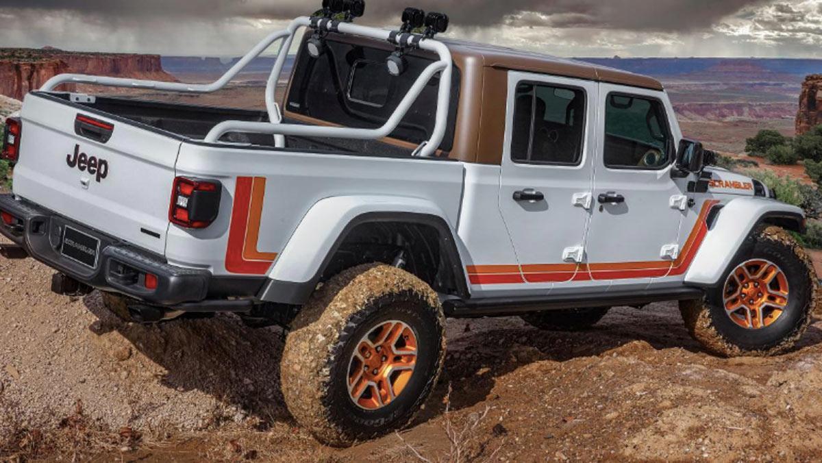 Concept Jeep JT Scrambler, tres cuartos trasero
