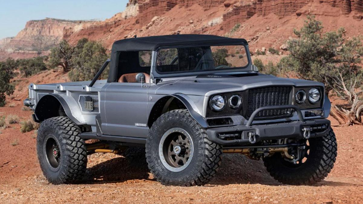Concept Jeep M-715 Five-Quarter, tres cuartos delantero