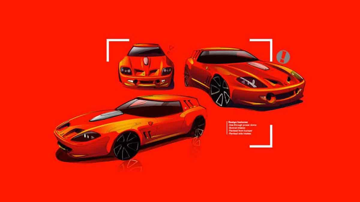 Ferrari Breadvan Hommage - Niels van Roij Design
