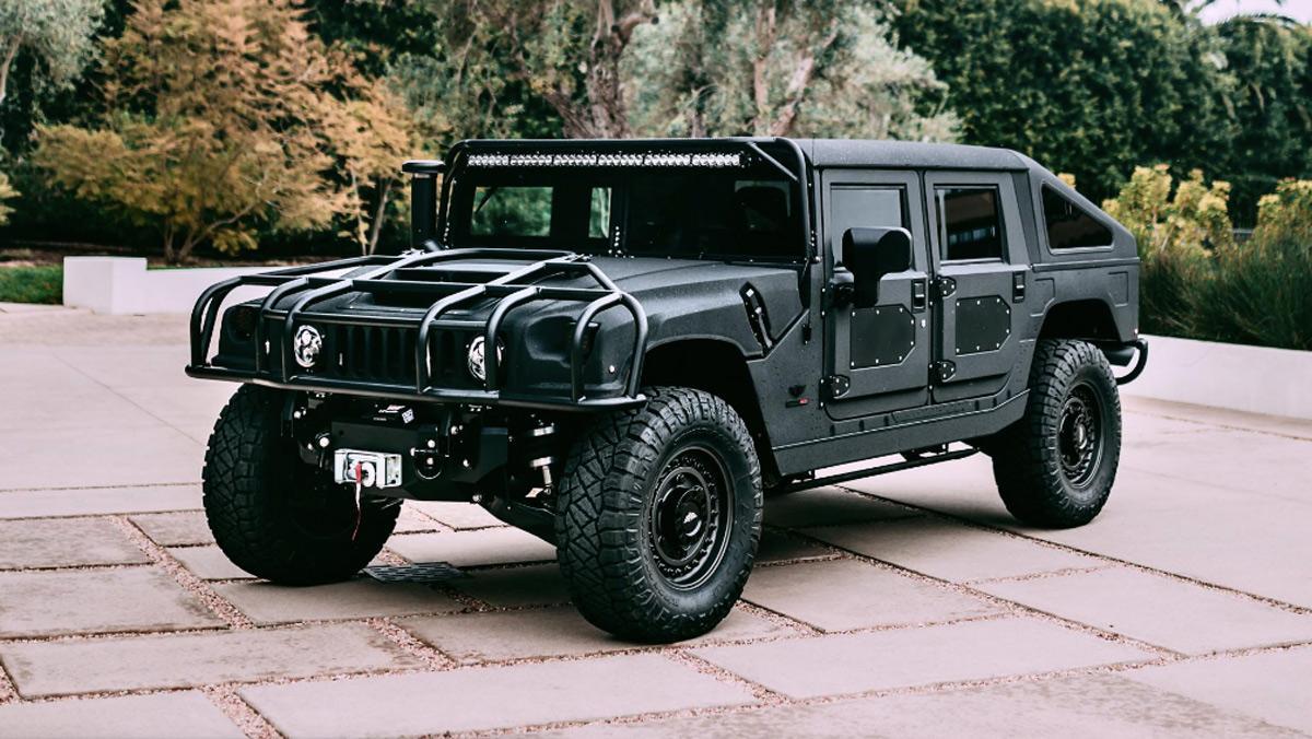 Hummer H1 Mil-Spec 500 CV, tres cuartos delantero estático
