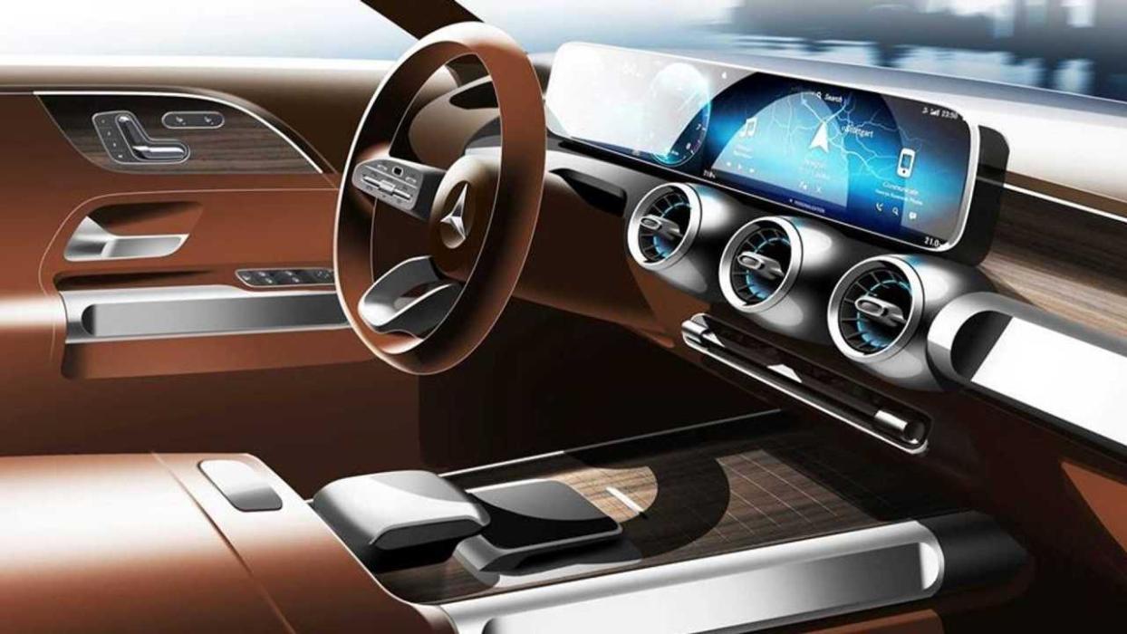 Teaser interior Mercedes GLB